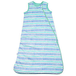 The Honest Company® Medium Classic Wearable Blanket in Teal/White Dots and Dashes