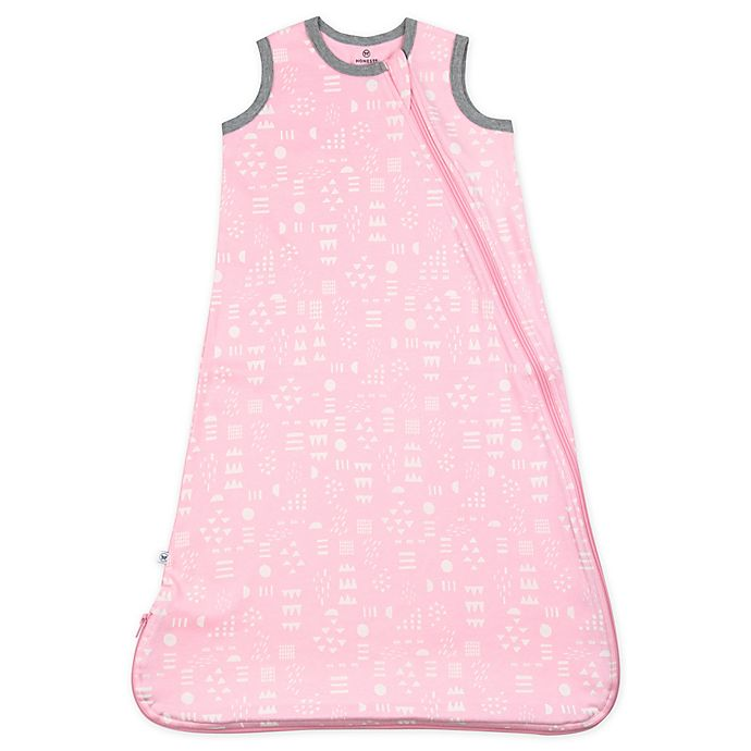 Alternate image 1 for The Honest Company® Large Classic Wearable Blanket in Pink/White Play