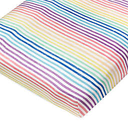 The Honest Company® Rainbow Stripe Organic Cotton Fitted Crib Sheet
