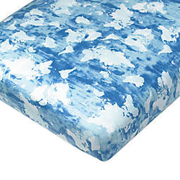 The Honest Company® Watercolor World Organic Cotton Fitted Crib Sheet in Blue