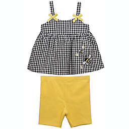 Bonnie Baby 2-Piece Bee Shirt and Short Set in Black/Yellow