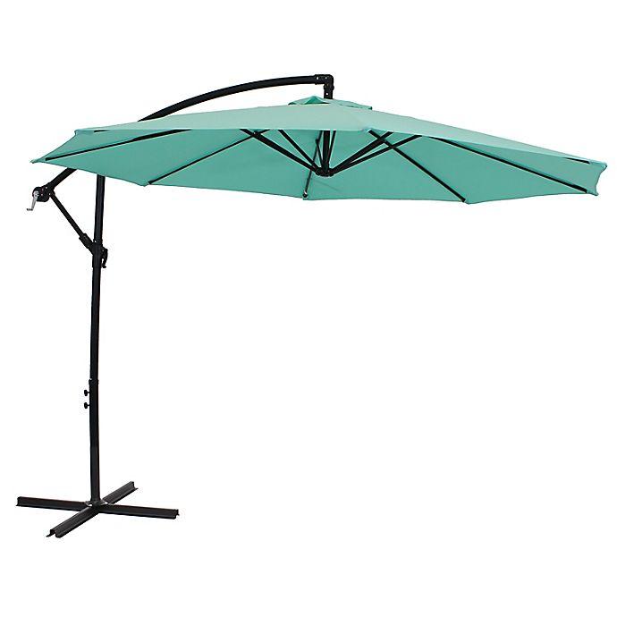 Alternate image 1 for Sunnydaze Decor 9.59-Foot Octagon Offset Patio Umbrella