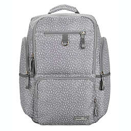 Bananafish Logan Backpack Diaper Bag in Grey