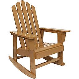 Sunnydaze Adirondack Rocking Chair in Brown