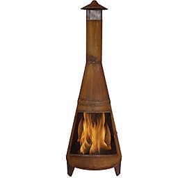 Sunnydaze Wood-Burning Chiminea in Dark Orange