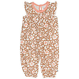 The Honest Company® Flutter Sleeve Floral Organic Cotton Coverall in Brown/Ivory