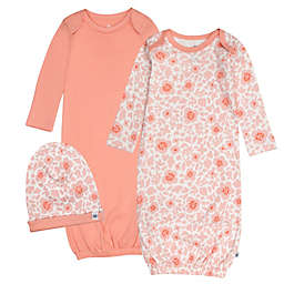 The Honest Company® 2-Pack Organic Cotton Sleeper Gowns in Peach with Beanie