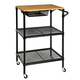Honey-Can-Do® Kitchen Cart with Storage Drawer in Black