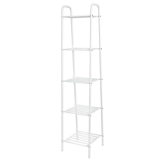 Alternate image 1 for Honey-Can-Do® 5-Tier Steel Shelf Tower in White
