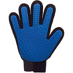 True Touch® 2-Sided Pet Deshedding and Grooming Glove in Blue