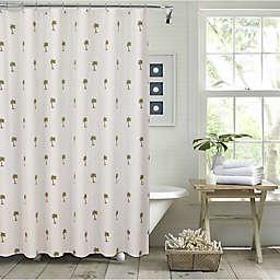Palm Tree 54-Inch x 78-Inch Shower Curtain in Cream