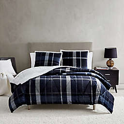 UGG® Avery 2-Piece Reversible Twin/Twin XL Comforter Set in Ocean Plaid
