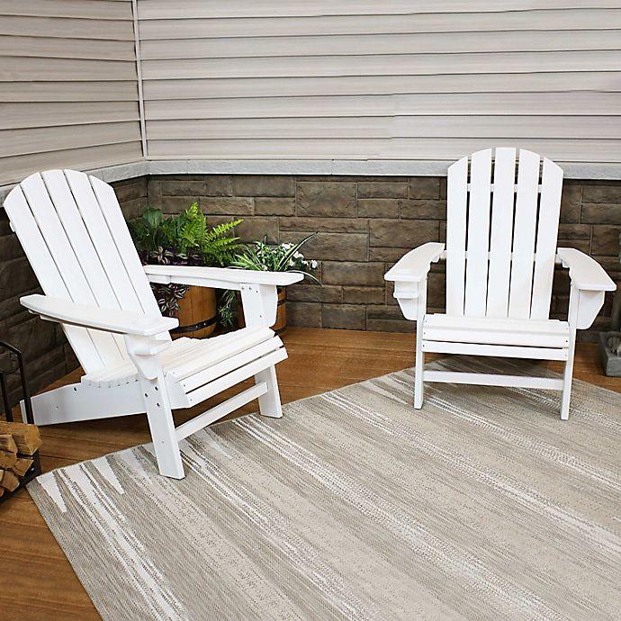Sunnydaze All Weather Adirondack Chairs Set Of 2 Bed Bath Beyond