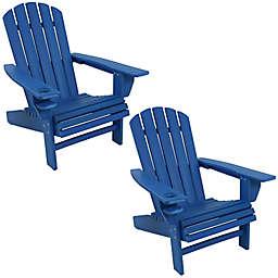 Sunnydaze All-Weather Adirondack Chairs (Set of 2)