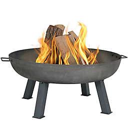 Sunnydaze Rustic Cast Iron Wood-Burning Fire Pit Bowl