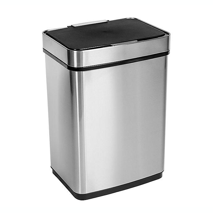 Alternate image 1 for Honey-Can-Do® Stainless Steel Motion Sensor 13-Gallon Trash Can