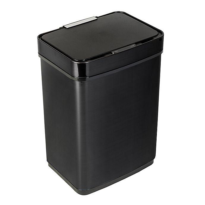 Alternate image 1 for Honey-Can-Do® Stainless Steel Motion Sensor 13-Gallon Trash Can in Black