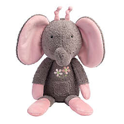 Lambs & Ivy® Girls Rule the World Daisy Elephant Plush Toy in Grey
