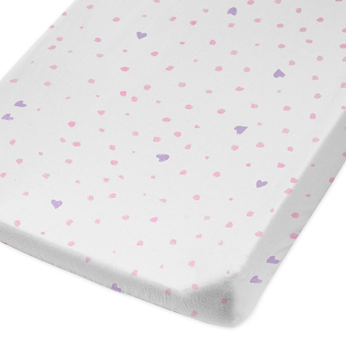 Alternate image 1 for The Honest Company® Love Dot Organic Cotton Changing Pad Cover