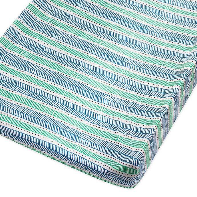 Alternate image 1 for The Honest Company® Dots and Dashes Organic Cotton Changing Pad Cover in Teal