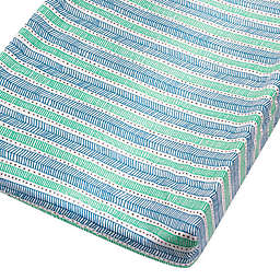 The Honest Company® Dots and Dashes Organic Cotton Changing Pad Cover in Teal