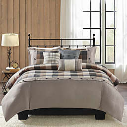 Madison Park® Ridge Herringbone Duvet Cover Set