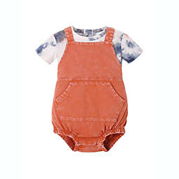 Kidding Around® Newborn 2-Piece T-Shirt and Shortall Set in Orange