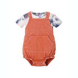 Kidding Around® 2-Piece T-Shirt and Shortall Set in Orange