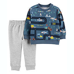 carter's® 2-Piece Airplane Long Sleeve Top and Jogger Pant Set