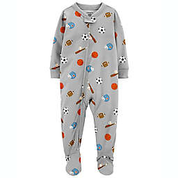 carter's® Sports Footed Pajama in Grey