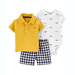 carter's® 3-Piece Little Short, T-Shirt, and Bodysuit Set