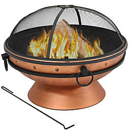 Sunnydaze Royal Cauldron Wood-Burning Fire Pit in Copper