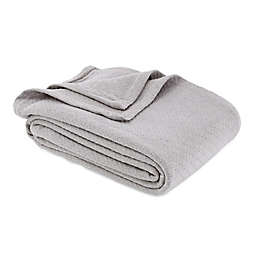 Bee & Willow™ Home Cotton Knit Twin Blanket in Grey