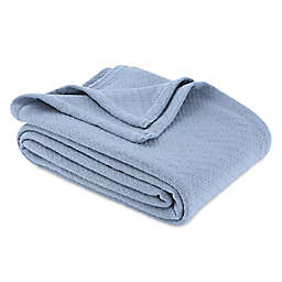 Bee & Willow™ Home Cotton Knit King Blanket in Blue