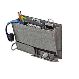 Squared Away™ Arrow Weave Bedside Caddy in Grey