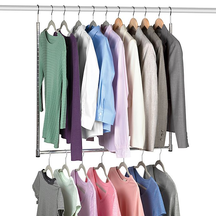 Alternate image 1 for Simply Essential™ Double Hang Adjustable Closet Rod