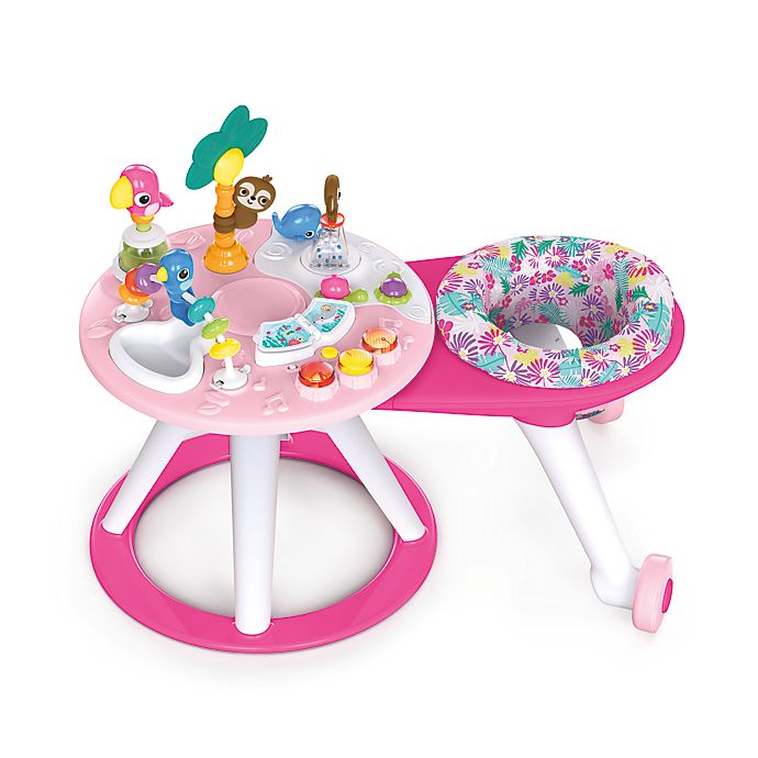 Alternate image 1 for Bright Starts™ Around We Go™ 2-in-1 Activity Center in Tropic Coral