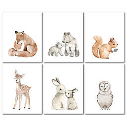 Lambs & Ivy® Watercolor Woodland Animals Unframed Wall Art (Set of 6)