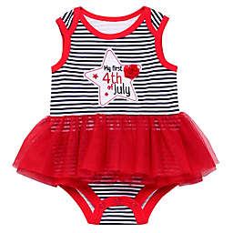 Baby Starters® Size 12M Americana Tutu Stripe Bodysuit in Red/White/Blue