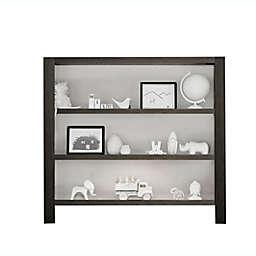 Milk Street True Hutch/Bookcase in Grey Mud/ Snow White