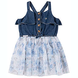 Calvin Klein® 2-Piece Floral Dress and Diaper Cover Set