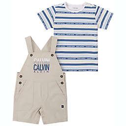 Calvin Klein 2-Piece T-Shirt and Shortall Set in Blue