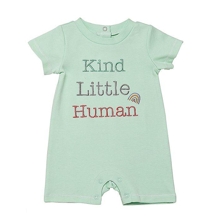 Alternate image 1 for Baby Starters® Little Human Romper in Green