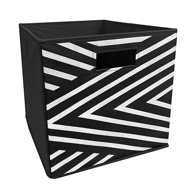 Alternate image 1 for ORG™ 13-Inch Tuscan Collapsible Storage Bin in Black
