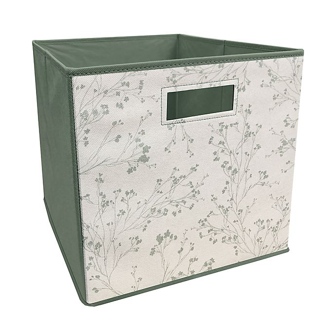 Alternate image 1 for ORG™ 13-Inch Willows Collapsible Storage Bin in Sage