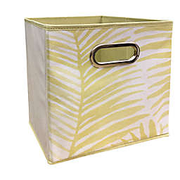 Relaxed Living Feathered 11-Inch Collapsible Bin in Gold