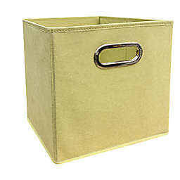 Relaxed Living Lima Bean 11-Inch Square Collapsible Storage Bin in Gold