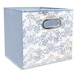 Relaxed Living Royal Court 11-Inch Square Collapsible Storage Bin in Light Blue