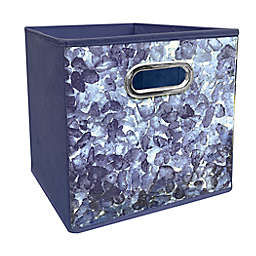 Relaxed Living Seaglass 11-Inch Square Collapsible Storage Bin in Blue