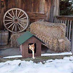 K&H® Kitty House Outdoor Heated Cat Cabin in Brown Oak